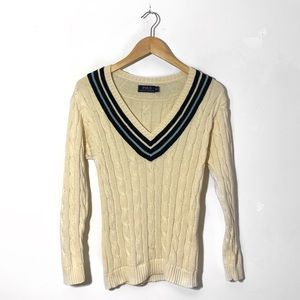 Polo Ralph Lauren V-Neck Sweater, classic cable
